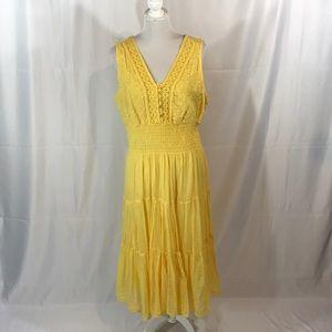 Mlle Gabrielle yellow v neck maxi sundress
